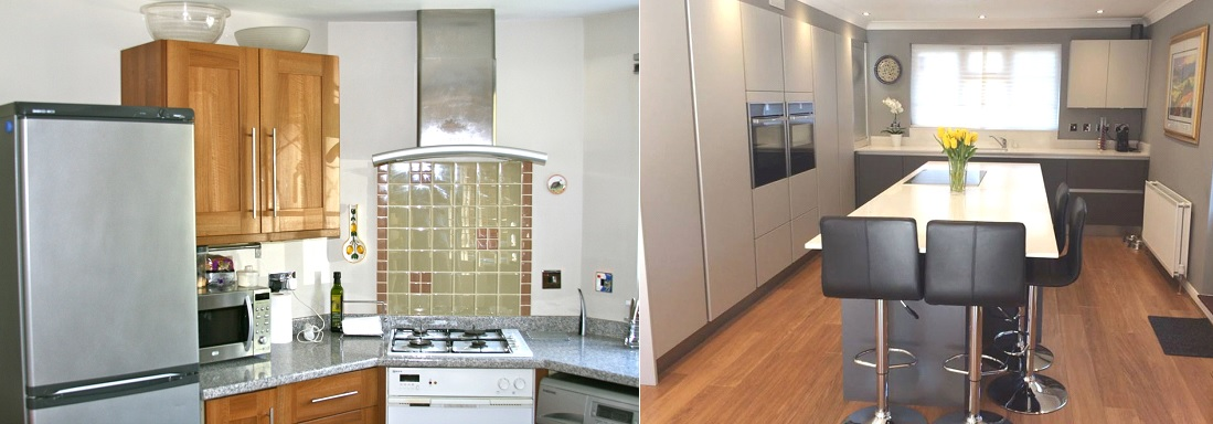 Frost Kitchen before and after